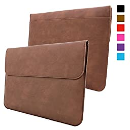 Snugg Leather Sleeve for Microsoft Surface Pro 3 / 4 - Brown