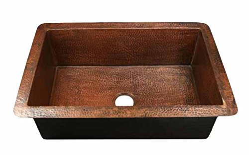 Small Single Well Copper Standard Kitchen Sink