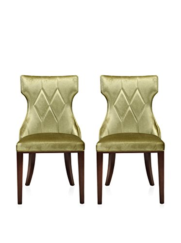 Ceets Set of 2 5th Ave Dining Chairs, Green