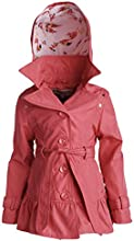 Urban Republic Little Girls Belted Spring Trenchcoat Jacket with Detachable Hood
