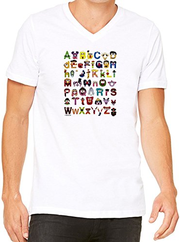 Sesame Street Alphabet T-Shirt V-Collo Donne XX-Large