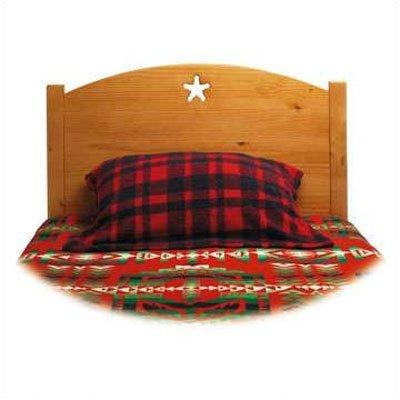 Traditional Star Twin Panel Headboard Finish: Honey Oak front-543390