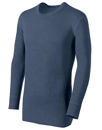 Duofold® by Champion® Originals Heavyweight 2-Layer Tall Men's Crewneck Shirt, XL-Blue Jean