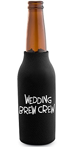 Epic Products Wedding Brew Crew Neoprene Beer Bottle Epicool, 6-Inch front-314159