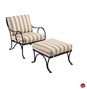 Amazon Grid Outdoor Wrought Iron Lounge Dining Chair
