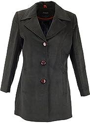 Panache Women's Slim Fit Coat (M005 _ Medium, Dark Grey)