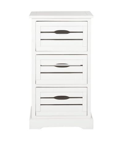 Safavieh Samara 3 Drawer Cabinet, Distressed Cream