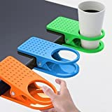 New Arrival Office Table Desk Drink Coffee Cup Holder Clip Drinklip 4pcs/lot Random color
