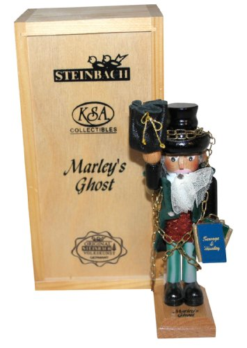 Kurt Adler Steinbach Wooden Christmas Carol Ornament, Set of 3