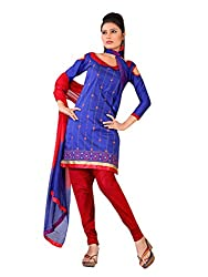 Urban Vastra Blue Embroidery Dress Material ( 19000A )