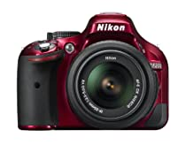 Nikon D5200 CMOS DSLR with 18-55mm f/3.5-5.6 AF-S NIKKOR Zoom Lens (Red)