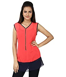 Whistle Casual Sleeveless Solid Women's Top