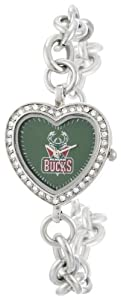 NBA Ladies BH-MIL Heart Collection Milwaukee Bucks Watch by Game Time