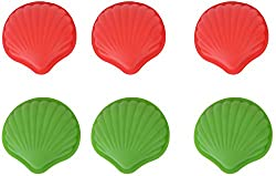 Erbanize (TM) Silicone Non-Stick Shell Shaped Bakeware Muffin Moulds. 6 Pcs.