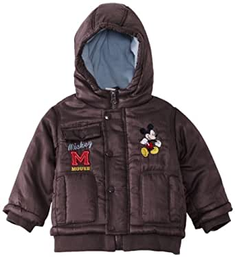 Disney Mickey Mouse Baby Boys' Coat Brown/Crystal Blue 6 Months
