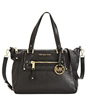 Hot Sale MICHAEL Michael Kors Gilmore EW Satchel, Black
