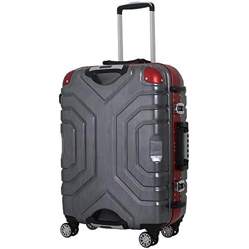(シフレ)SIFFLER Siffler スーツケース ESCAPE`S B5225T-58 58cm ヘアラインブラック/レッド