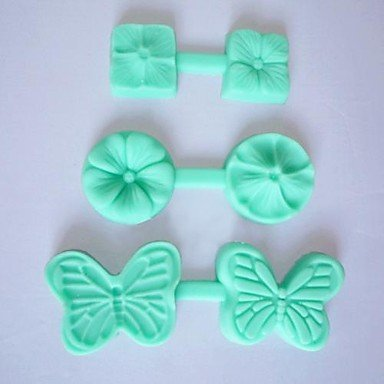 3pcs set DIY Cake Mold New Mini Flower and Butterfly Food Grade Silicone Handmade Fondant Mold