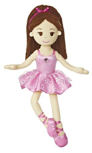 "Aurora World Brunette Ballerina 14.5"" Plush"