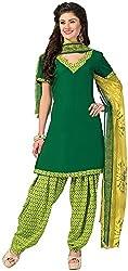 K.K BROTHERS Women's Crepe Dress Material (Green)