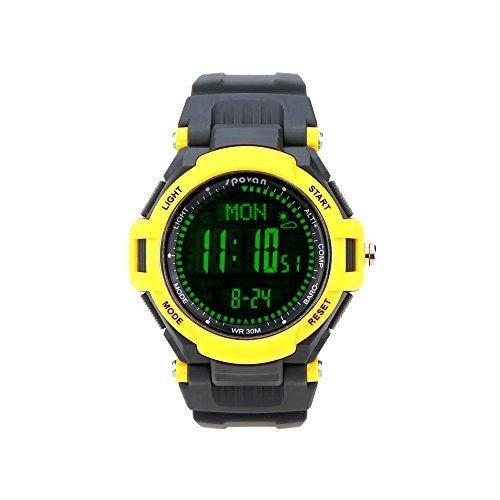 Lixada orologio sportivo / multifunzione Guarda watch,con altimetro Pedometro Bussola Cronometro Outdoor per unisex,3ATM impermeabile,LCD retroilluminato