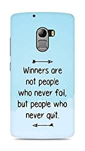 AMEZ but people who never quit Back Cover For Lenovo K4 Note