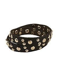 Tiekart Black Embelished Men Bracelet/Cuffs