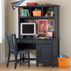 Kids Dressers: Kids Navy Blue Walden Desk & Hutch (B004KZHN1A)
