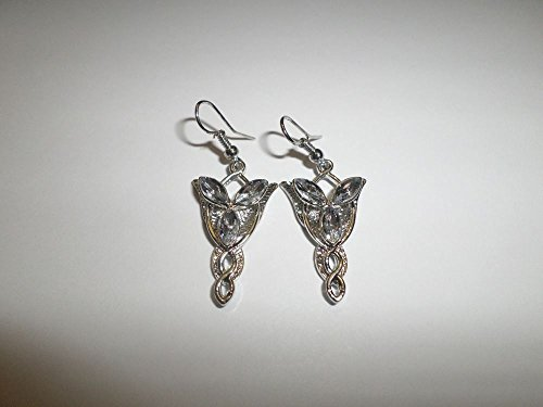 Coins_Stamps_and_More One Pair of Silver Plated Star Hook Earrings