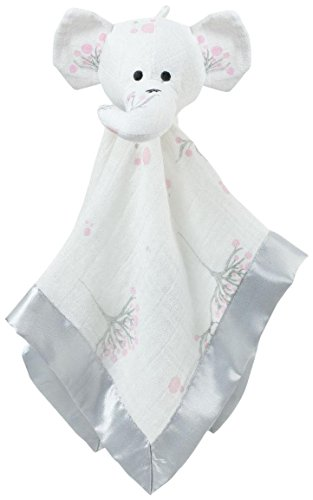 aden + anais Musy Mate Lovey Nursery Blanket, for the Birds Owls/Elephant - 1