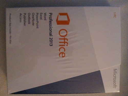 Microsoft® Office Professional 2013 (Product Key Card)