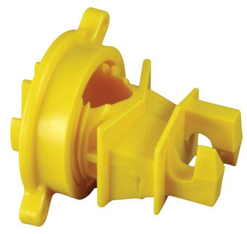 Zareba Electric Fence Yellow Economy Round-Post Insulator - 25 Pack SF25RP