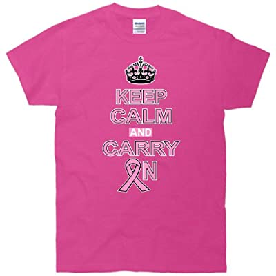 Keep Calm and Carry On Breast Cancer T-Shirt