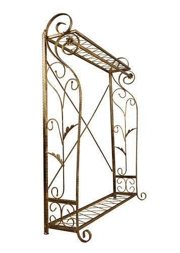 Brand New Free Standing Decorative Antique Bronze Iron Garment Coat Rack (Y009C) 6