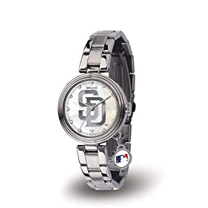 Sparo RI-WTCHA6201 San Diego Padres Charm Ladies Watch by Sparo
