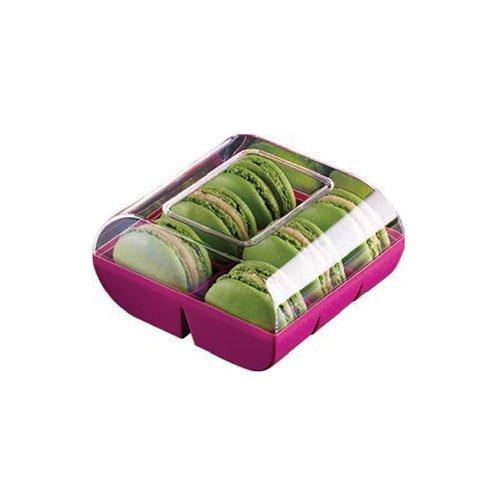 Silikomart professional - Boîte couleur 6 macarons 90 boîtes marron. Cuisine : Autour De La Pâtisserie (le Macaron Du Chef)