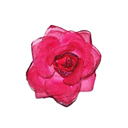Squishy Pet Products Sprinkles Collar Accessories, Hot Pink Glitter Rose, 3-Inch, Hot Pink Glitter Rose