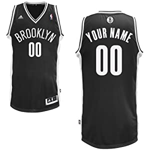 adidas Brooklyn Nets Custom Swingman Road Jersey by adidas