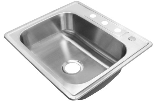"Review FIREBIRD 25""X22"" FBT-A1842522 T-304 STAINLESS STEEL TOP MOUNT DROP IN SINGLE BOWL 8..."