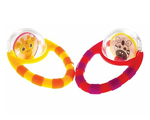 Sassy Flip and Grip Rattle, 2 Count