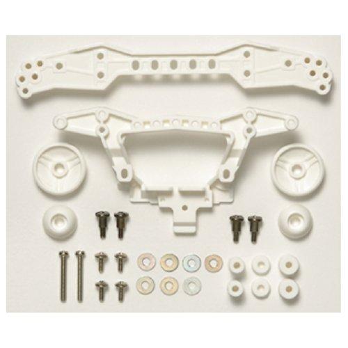 ミニ四駆限定シリーズ 強化リヤダブルローラーステー (3点固定タイプ・ホワイト) 94942