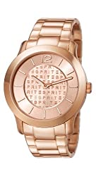 Esprit Mia Analog Gold Dial Womens Watch - ES107072004