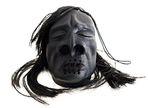 "Loftus Mini Shrunken Head Halloween Decoration 3"" Prop Black"
