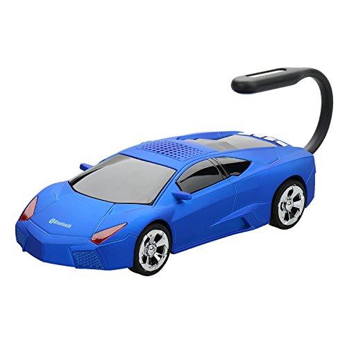 Dylan Bluetooth スピーカー LEDディスプレイ付き マイク内蔵 通話可能 TFカート&USBメモリ対応 ポータブルワイヤレススピーカー(ブルー)