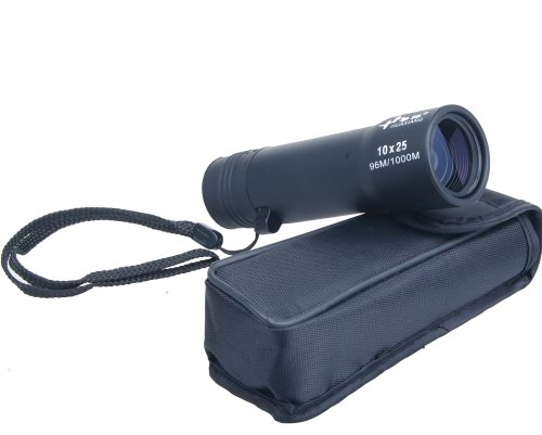 Nuoya001 Small Compact Pocket 10X25 Monocular Telescope For Camping Hunting (Include A Cycling Reflective Band As Gift)