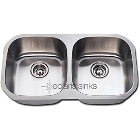 PolarisSinks Polaris P205 16-Gauge Double Bowl Stainless Steel Sink P205-16