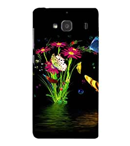 printtech Water Flowers Back Case Cover for Xiaomi Redmi 2S::Xiaomi Redmi 2::Xiaomi Redmi 2 Prime