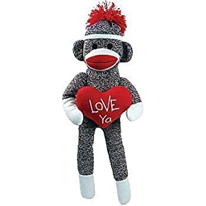 Love Ya Sock Monkey Plush: Classic Styled Collectible Doll at 'Sock Monkeys'
