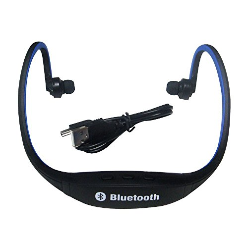 Gslc(Tm) Sports Universal Wireless Music Stereo Bluetooth Headset Universal Headset Earphone Headphone For Cellphones Such As Iphone, Nokia, Htc, Samsung, Lg, Moto, Pc, Ipad, Psp And So On & Enabled Bluetooth(Blue)