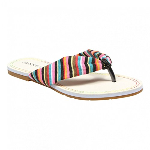 Sandalup Women'S Brooke Rianbow Flip Flops Multicolor Size 11 front-882128